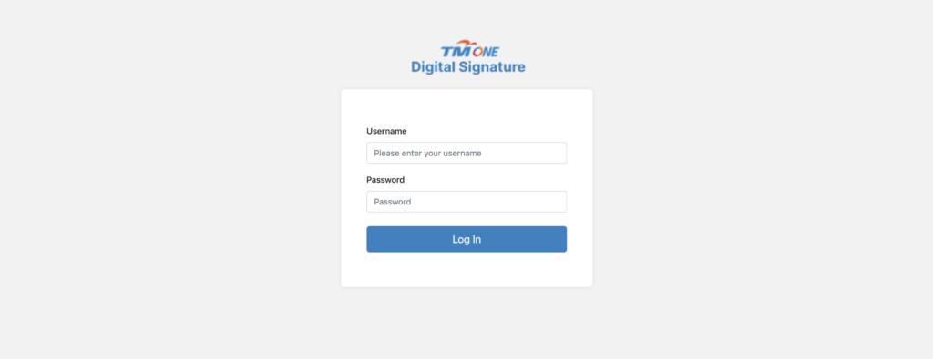 TM ONE Digital Signature